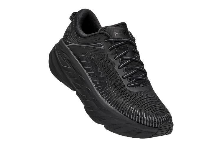Hoka One One Women's Bondi 7 Running Shoe (Black/Black, Size 10 US)