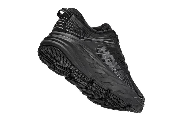 Hoka One One Women's Bondi 7 Running Shoe (Black/Black, Size 6.5 US)