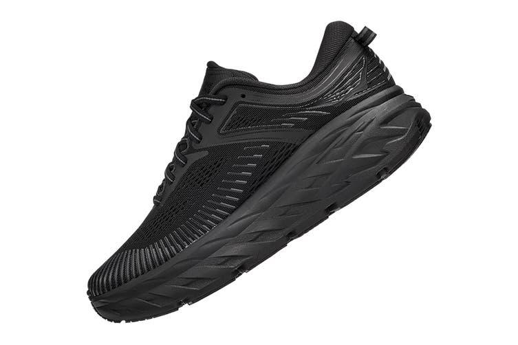 Hoka One One Women's Bondi 7 Running Shoe (Black/Black, Size 9.5 US)