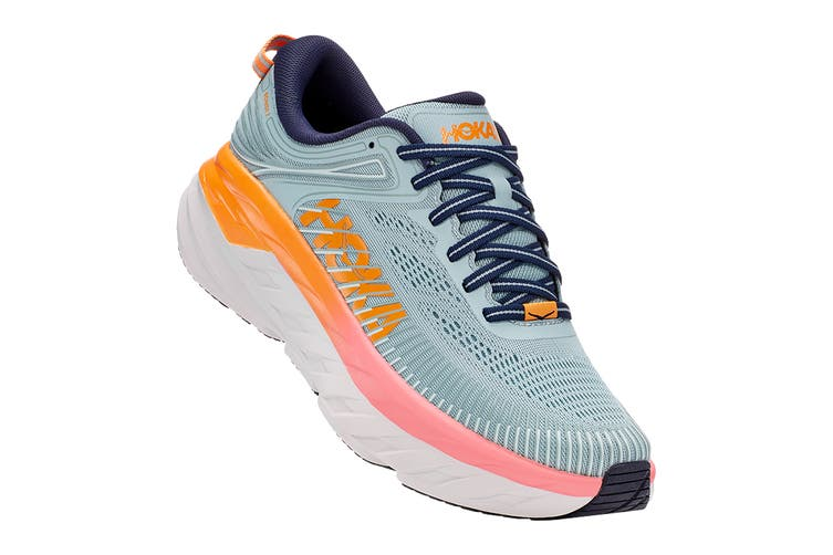Hoka One One Women's Bondi 7 Running Shoe (Blue Haze/Black Iris, Size 5 US)