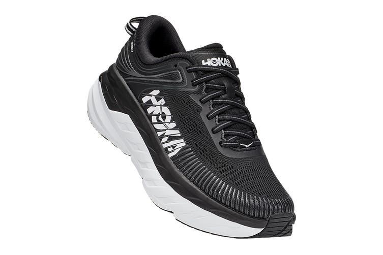 Hoka One One Women's Bondi 7 Running Shoe (Black/White, Size 9.5 US)