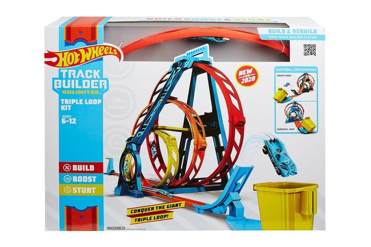 Hot Wheels Track Builder Unlimited Triple Loop Kit