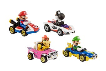 Hot Wheels Mario Kart Vehicle 4 Pack