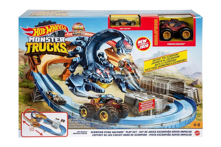 Hot Wheels Monster Truck Scorpion Sting Raceway Playset