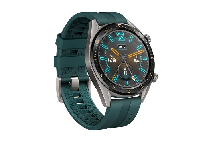Huawei Watch GT Active 46mm Smart Watch (Titanium with Green Strap)