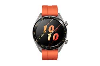 Huawei Watch GT Active 46mm Smart Watch (Titanium with Orange Strap)