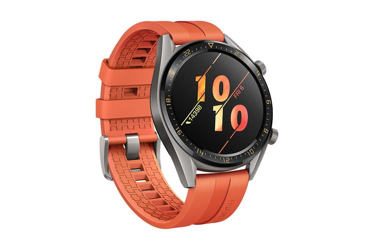 Huawei Watch GT Active 46mm Smart Watch (Titanium with Orange Strap)