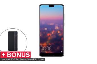 Huawei P20 Pro Dual SIM with BONUS Smart View Flip Cover (128GB, Twilight)