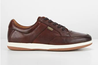 Hush Puppies Men's Dome Sneakers (Cognac Burnish)