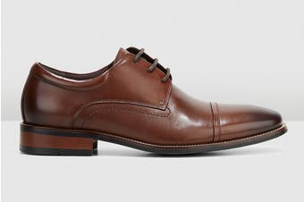 Hush Puppies Men's Welch Shoe (Cognac Burnish)