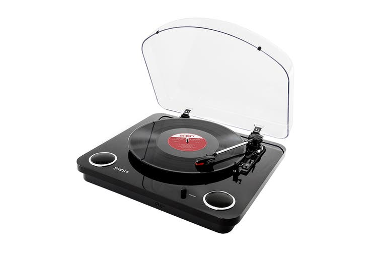 ION Max LP Conversion Turntable with built-in Stereo Speakers - Black