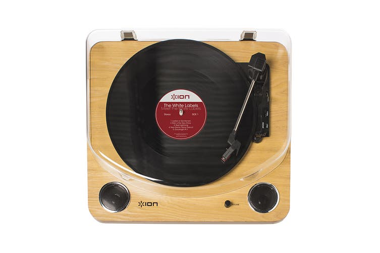 ION Max LP Conversion Turntable with built-in Stereo Speakers - Wood