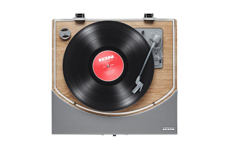 ION Premier LP Wireless Turntable with built-in Stereo Soundbar - Natural