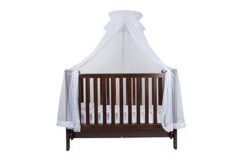 Infa Secure Cot Halo Stand + Net - White