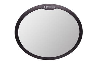 Infa Secure Large Round Mirror - Black