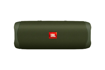 JBL Flip 5 Waterproof Bluetooth Speaker (Green)