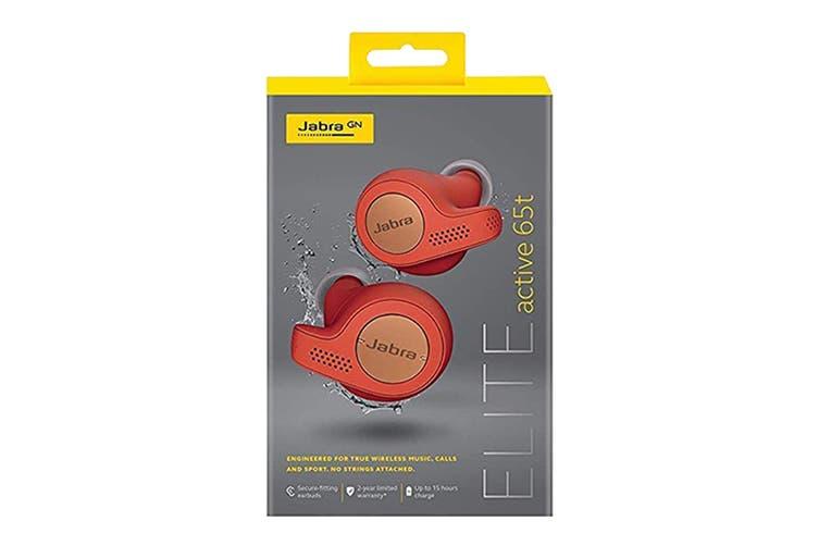 Jabra Elite Active 65t True Wireless Earphones (Copper Red)