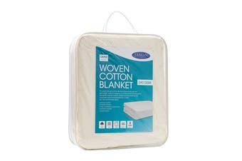 Jason Woven Cotton Blanket - Natural (Queen)