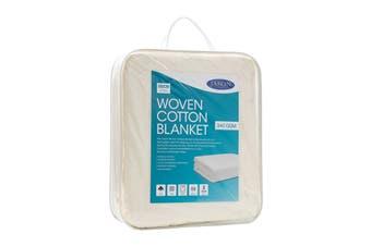 Jason Woven Cotton Blanket - Natural (Single)