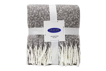 Jason Wool Touch Throw - Grey