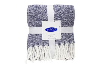 Jason Wool Touch Throw - Indigo