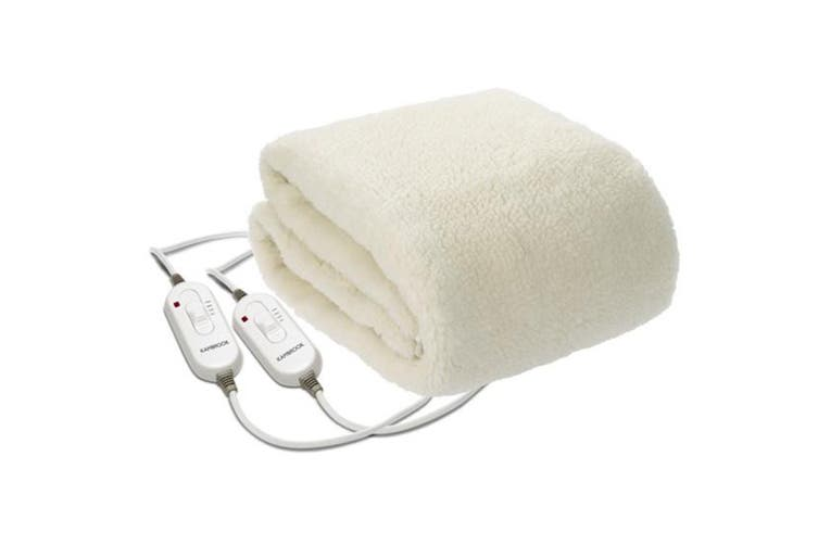 Kambrook Dream Master Double Queen Fleecy Fitted Heated Blanket (KEB535WHT)