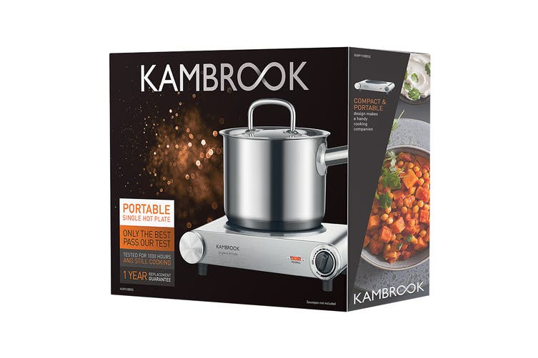 Kambrook Portable Ceramic Hot Plate - Single (KHP110BSS2JAN1)