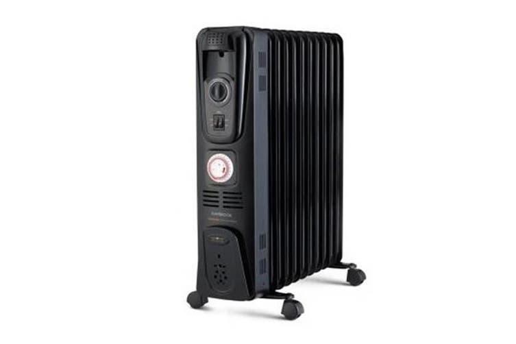 Kambrook 2400W 11 Fin Oil Column Heater (KOH111BLK)