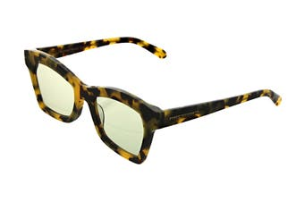 Karen Walker BLESSED Sunglasses (Crazy Tortoise, Size 51-20-145) - Sage Tint