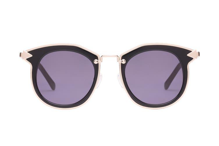 Karen Walker BOUNTY Sunglasses (Black, Size 47-22-145) - Smoke Mono