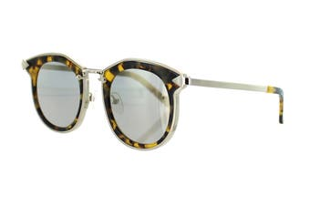 Karen Walker BOUNTY Sunglasses (Crazy Tortoise, Size 47-22-145) - Gold Mirror