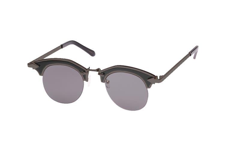 Karen Walker BUCCANEER Sunglasses (Black, Size 47-22-145) - Smoke Mono
