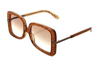 Karen Walker EDEN Sunglasses (Supernova Glitter, Size 53-20-145) - Brown Tint