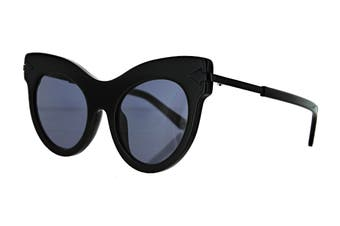 Karen Walker MISS Sunglasses (Black, Size 52-22-145) - Smoke