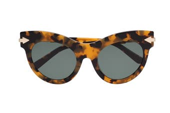 Karen Walker MISS Sunglasses (Crazy Tortoise, Size 52-22-145) - Green