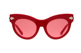 Karen Walker MISS Sunglasses (Red, Size 52-22-145) - Red