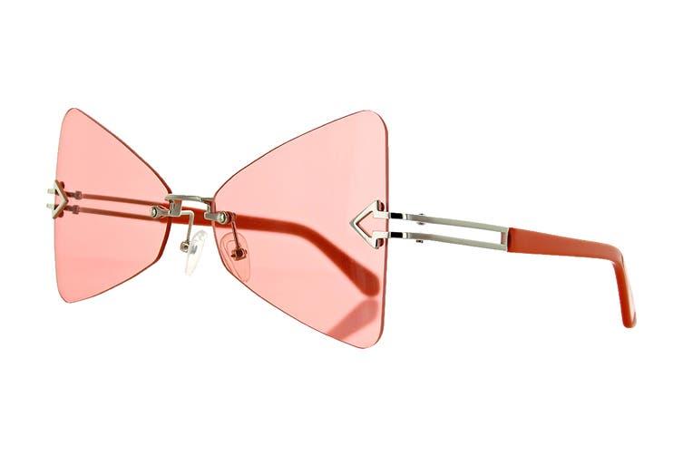 Karen Walker PARADISE Sunglasses (Tangerine, Size 57-16-140) - Pink Orange