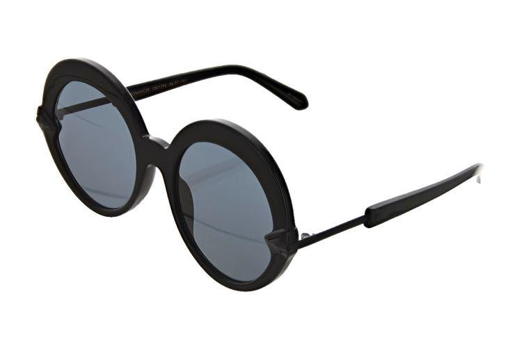Karen Walker ROMANCER Sunglasses (Black, Size 56-21-145) - Smoke Mono