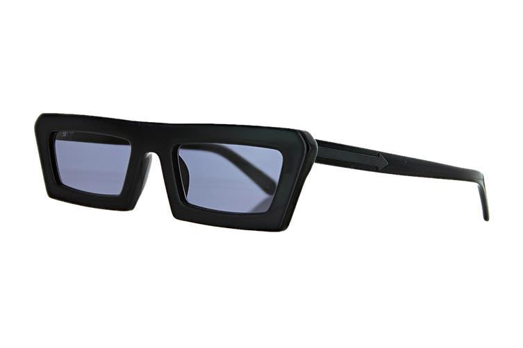 Karen Walker SHIPWRECKS Sunglasses (Black, Size 52-21-145) - Smoke Mono