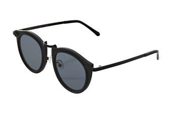 Karen Walker SUPERSTAR Solar Harvest Sunglasses (Black, Size 50-9-145) - Smoke Mono