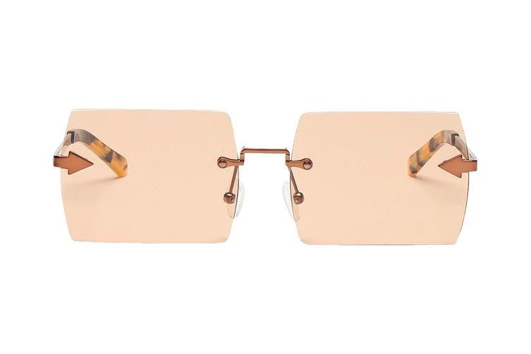 Karen Walker THEBIRD Sunglasses (Light Brown, Size 58-16-140) - Brown