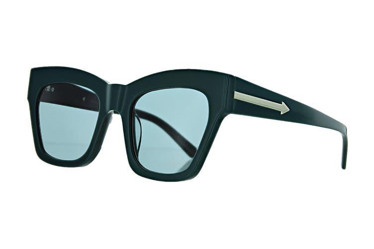 Karen Walker TREASURE Sunglasses (Emerald, Size 52-22-145) - Green
