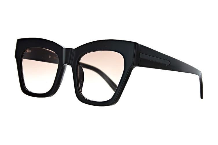 Karen Walker TREASURE Sunglasses (Black, Size 52-22-145) - Brown Gradient