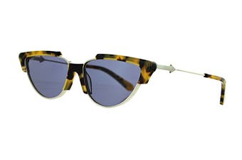Karen Walker TROPICS Sunglasses (Crazy Tort, Size 58-15-140) - Smoke Mono