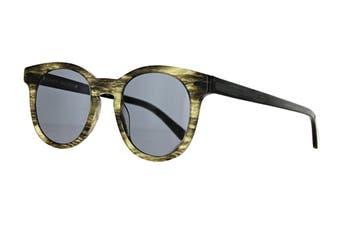 Karen Walker WILDE Sunglasses (Horn/Black, Size 48-21-150) - Smoke Mono