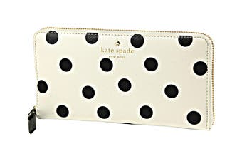 Kate Spade Cedar Street Dot Wallet (Clotted Cream/Black)