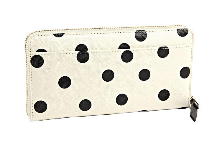 Kate Spade Cedar Street Dot Wallet (Clotted Cream/Black)