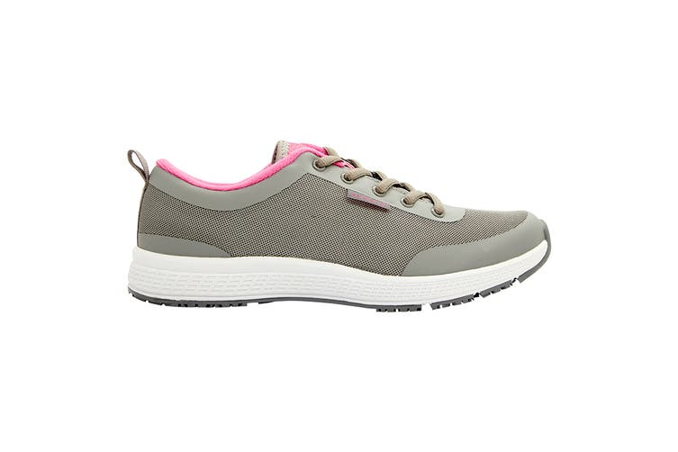 King Gee Women's Superlite Mesh Lace Shoe (Grey, Size 5.5)