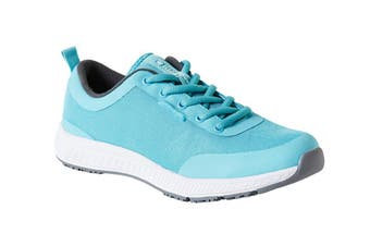 King Gee Women's Superlite Mesh Lace Shoe (Teal, Size 10)