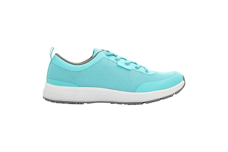 King Gee Women's Superlite Mesh Lace Shoe (Teal, Size 7.5)
